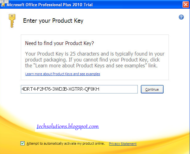 microsoft office 2010 plus activation