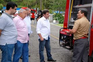 Cel. Palência mostra como funciona a viatura para Prefeito Arlei e secretários municipais