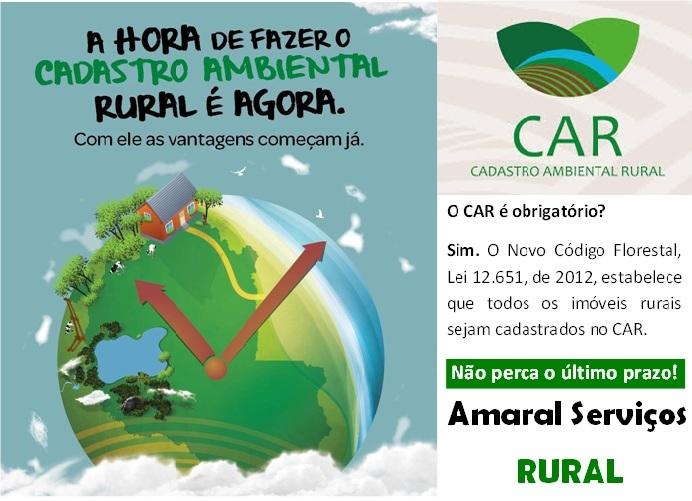 CADASTRO AMBIENTAL RURAL OBRIGATÓRIO