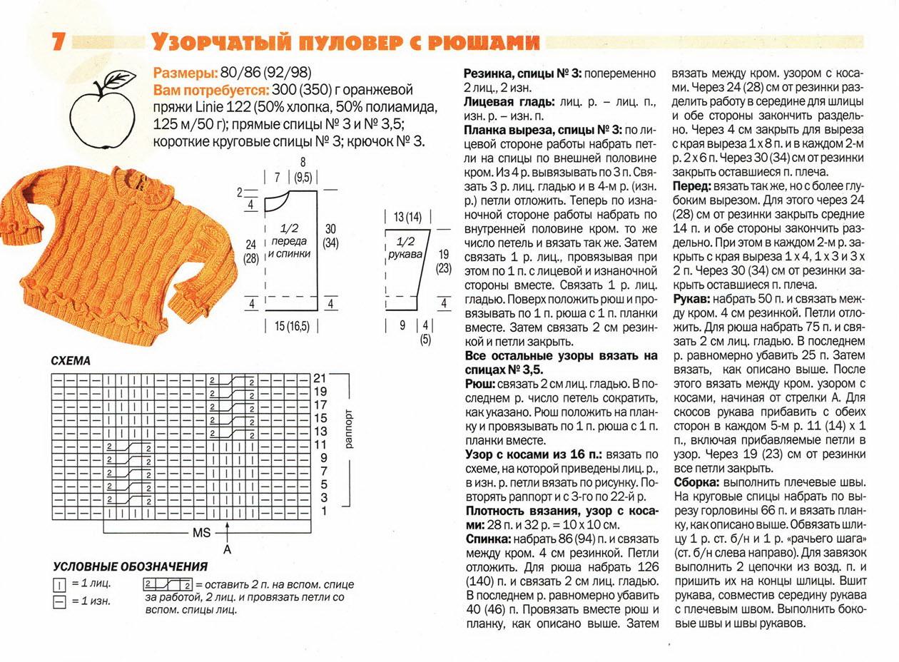 Пуловер С Рюшами