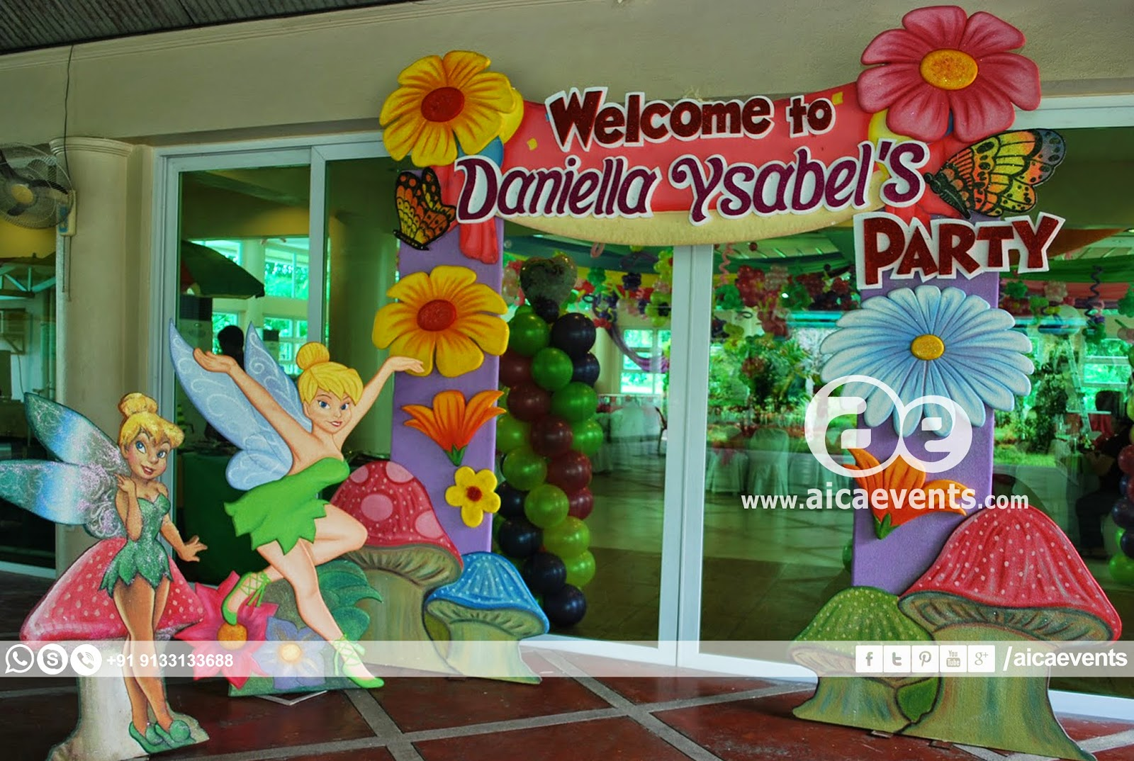 Fairy Birthday Party Decorations Aicaevents Animated Fairy Themed Birthday Decorations