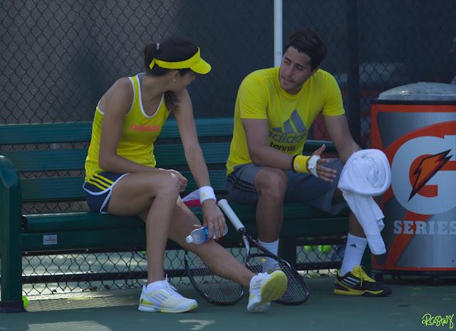 Ana Ivanovic (Day 3) Practice Session - Sony Open 2013
