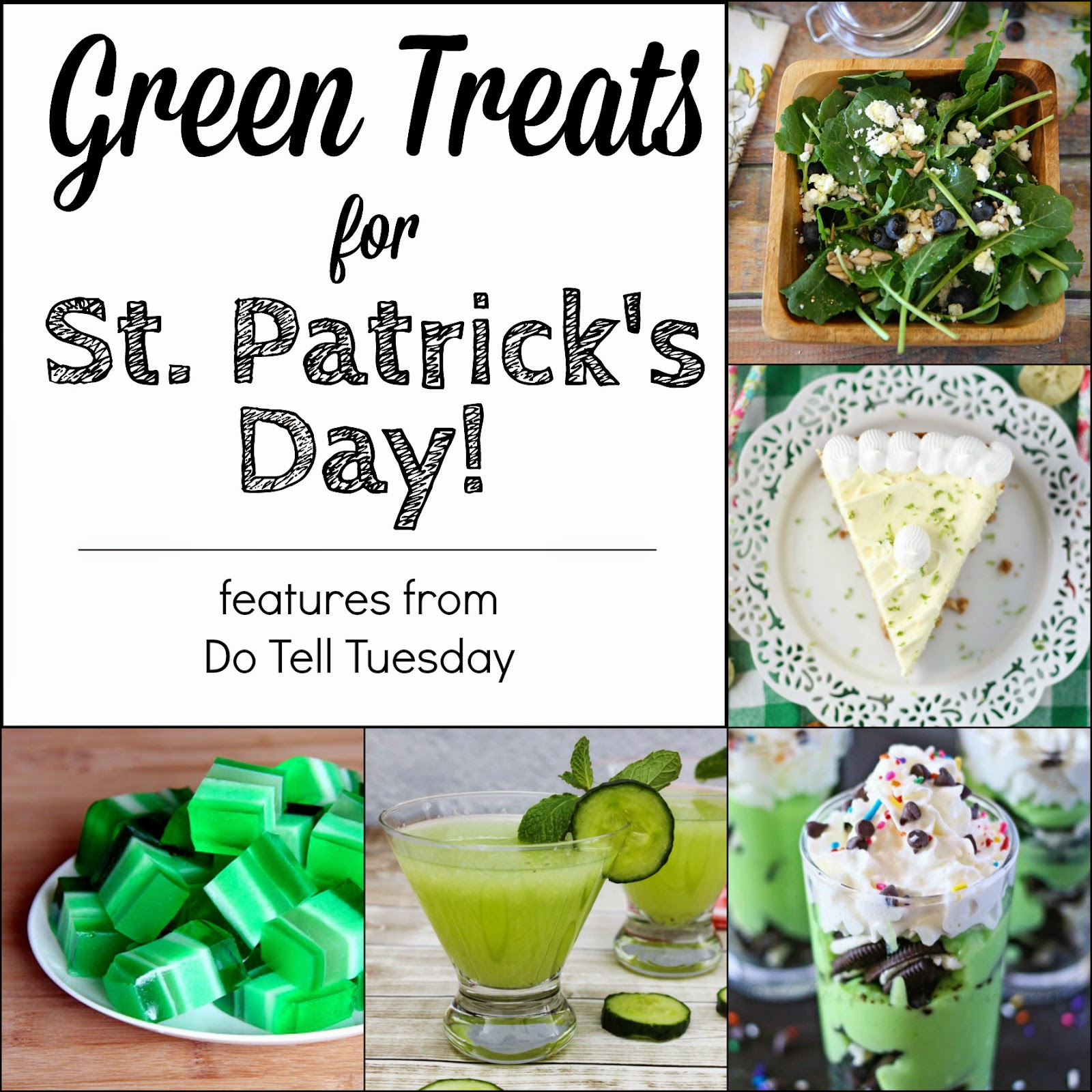 Green Treats for St. Patrick's Day on Do Tell Tuesday at Diane's Vintage Zest!