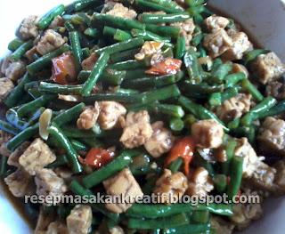 resep oseng tempe kacang panjang