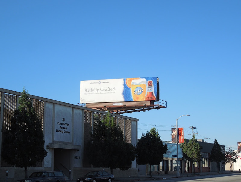 Artfully Crafted Blue Moon beer billboard 