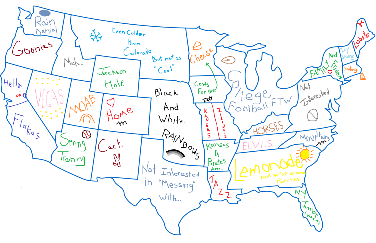 map of the u s a