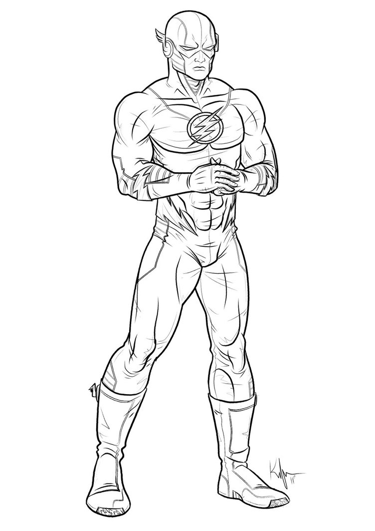 Best Flash Superhero Coloring Pages