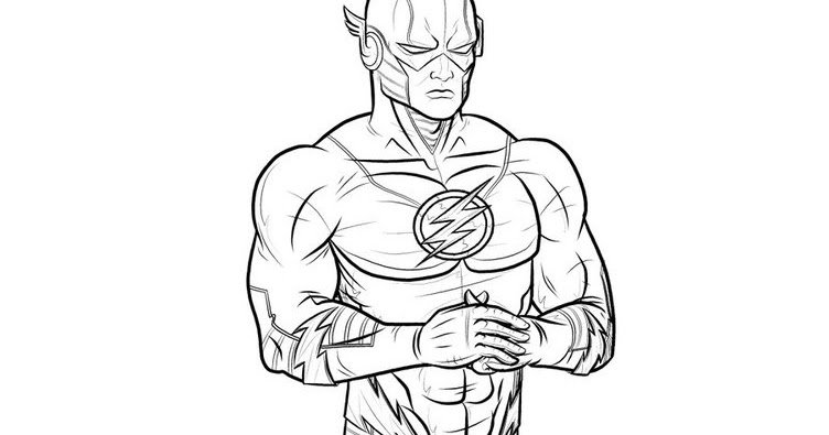 best flash superhero coloring pages superhero coloring pages - Superhero Coloring Pages