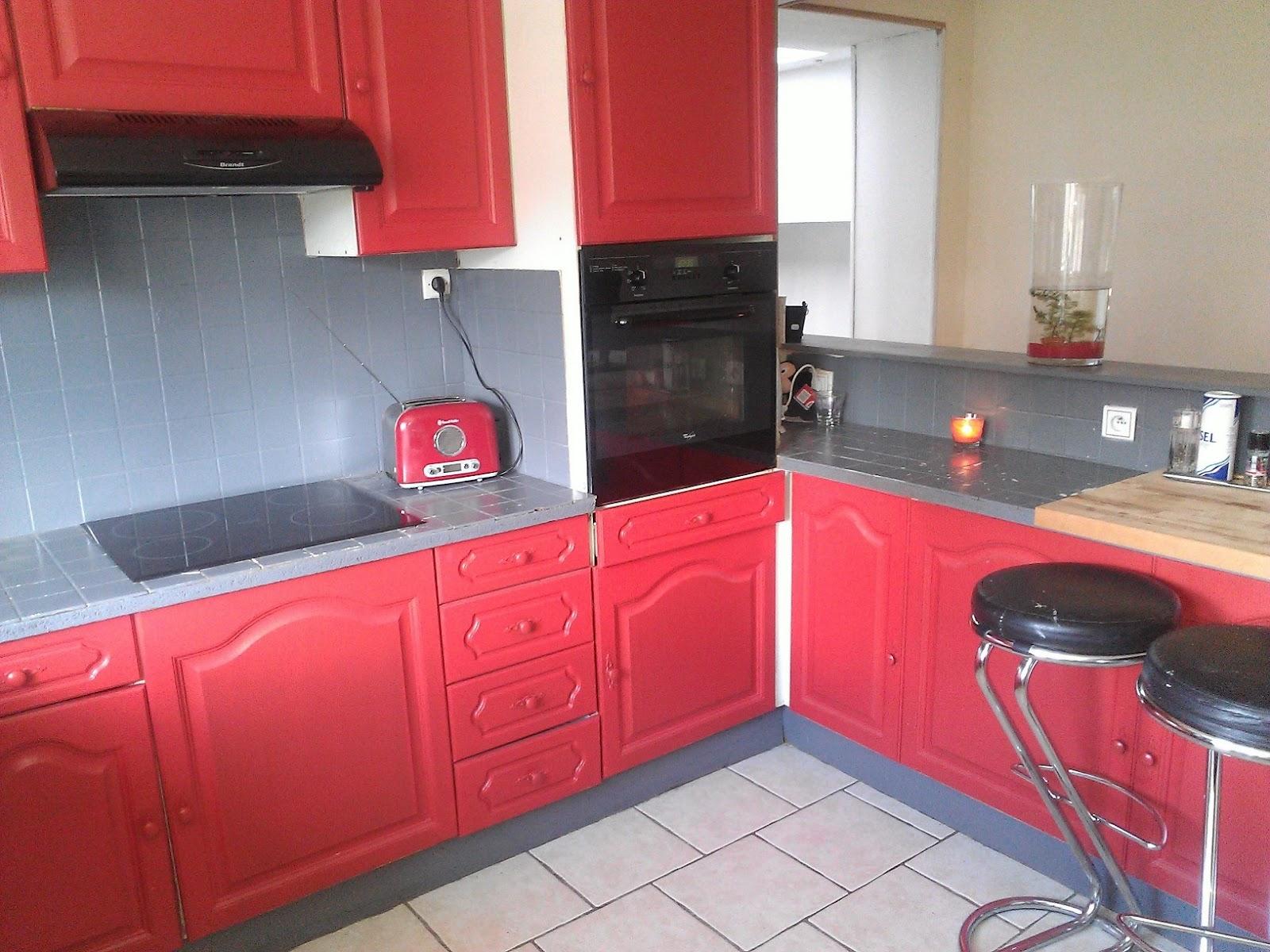 peindre sa cuisine en rouge