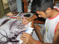 Puji, Pemuda Asal Pati yang Populerkan Teknik Lukis Kruwel
