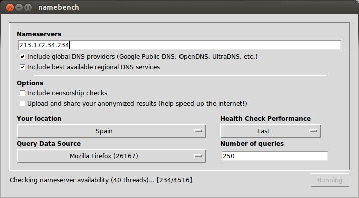 Tuto: Mejorar y acelerar tu conexión de ADSL, saber cual es dns más rápida en ubuntu