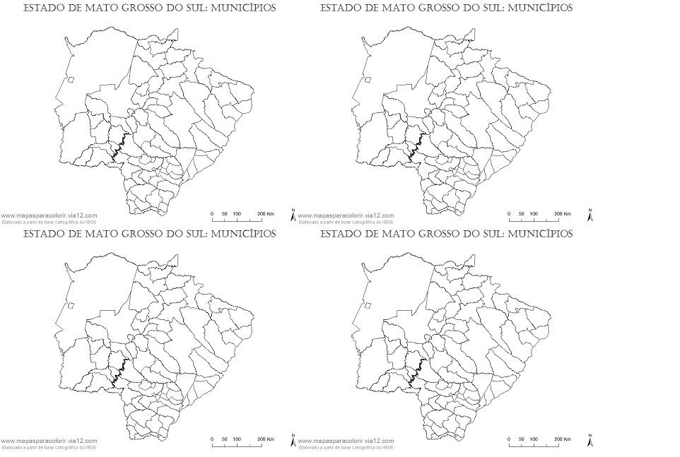 Mapa De Mato Grosso Do Sul