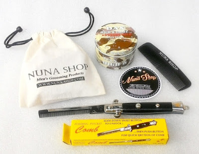 Paket Hemat Pomade DAX High & Tight Awesome Hold + Switchblade Comb (SB) + Pouch + Stiker + Sisir Saku