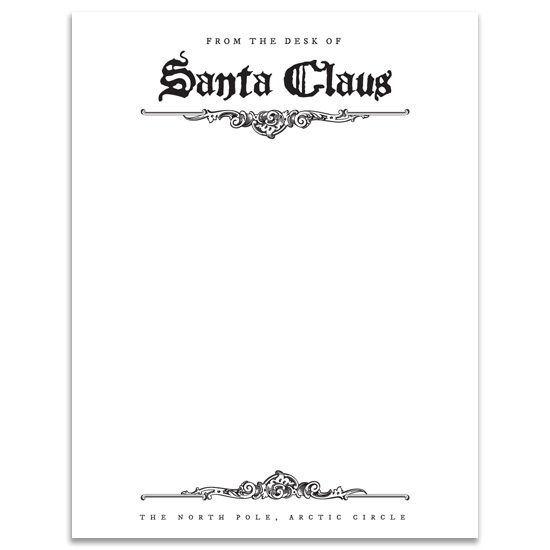 Free download | Santa Letterhead | Design Editor