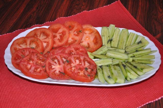 Mediterranean Tomato-Cucumber Salas Recipe by www.dish-away.com