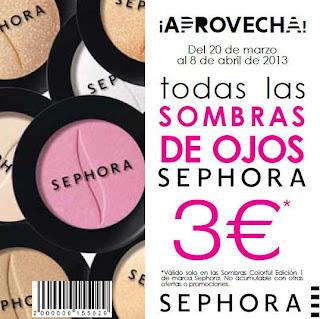 SEPHORA SOMBRAS DE OJOS A 3 EUROS