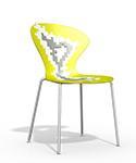 silla cocina diseño AMARILLO biba apilable