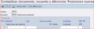 MI10 llenar inventario SAP