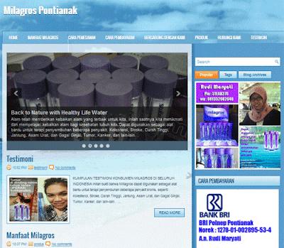Blog Bisnis Milagros Pontianak yang sedang saya tangani