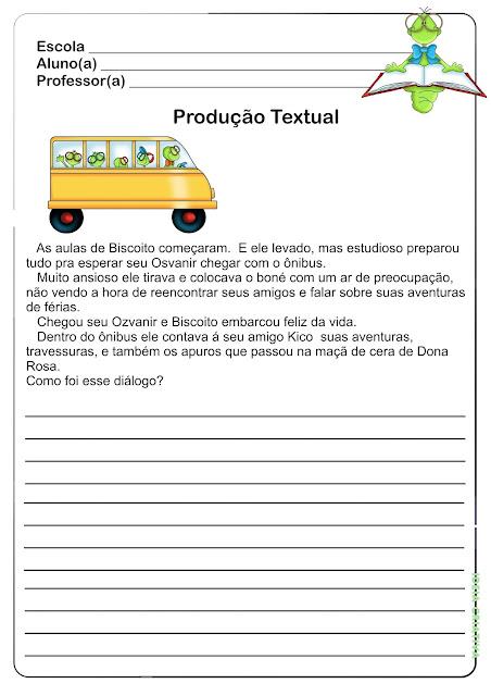 Atividade Produção de Texto / Volta às Aulas
