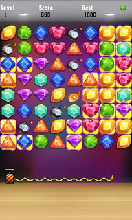 Screenshots of the Jewels challenge for Android tablet, phone.