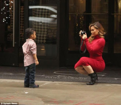 50 Cent's baby mama steps out with her cute son in New ...