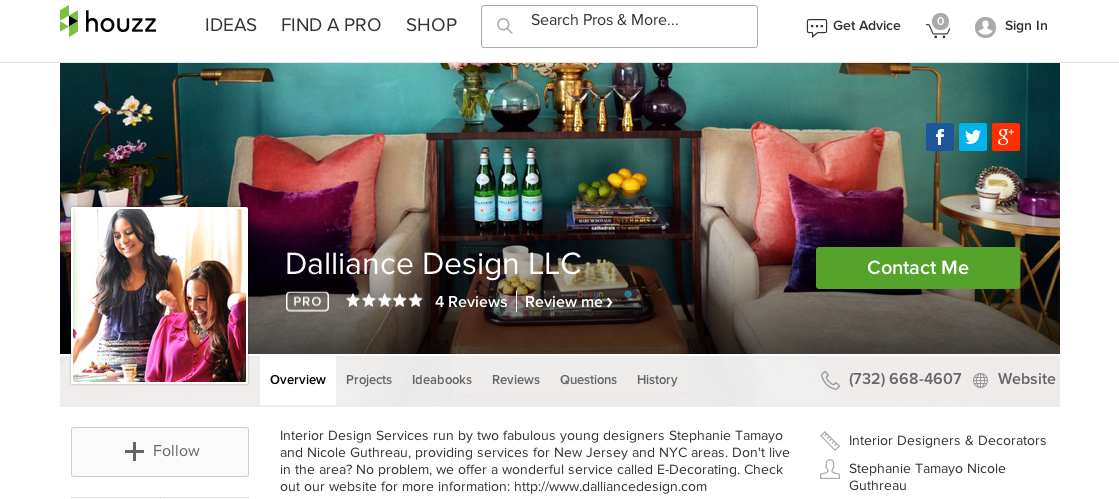 Dalliance design a love affair with design houzz for Professional interior designer