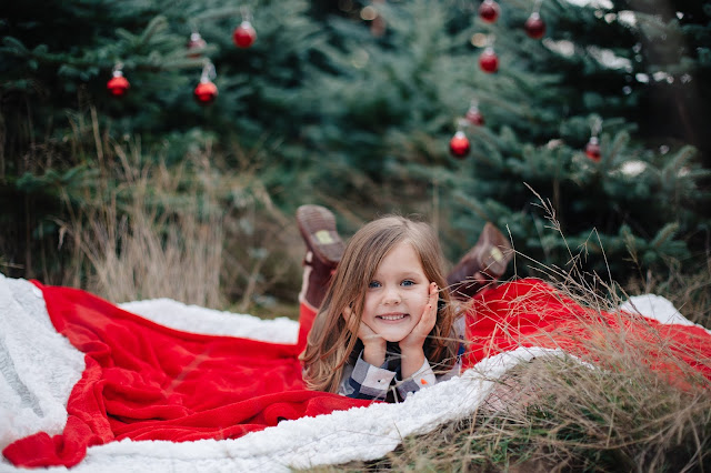 spotted stills, jenn pacurar, christmas tree, christmas tree farm, holiday photos, christmas photos, family holiday photos, ornaments