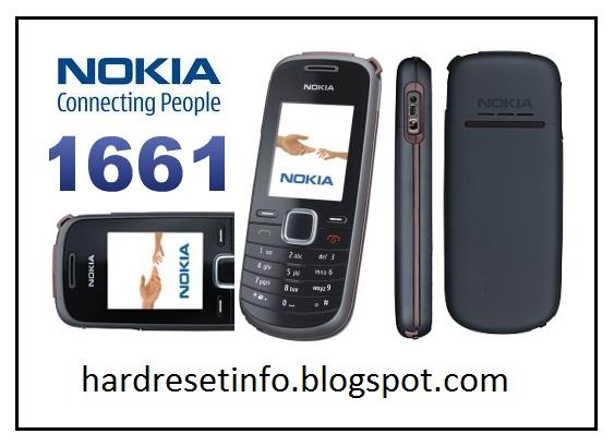 Hard Reset Nokia 1661