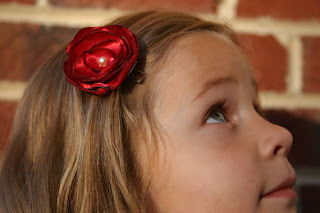The Lauren Flower Hair Clip-Red made by kelleyroad on etsy