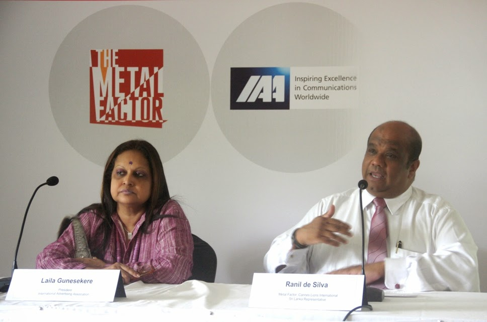 Laila Gunesekere, President IAA and Ranil de Silva, Metal Factor, Cannes Lions International Sri Lanka Representative