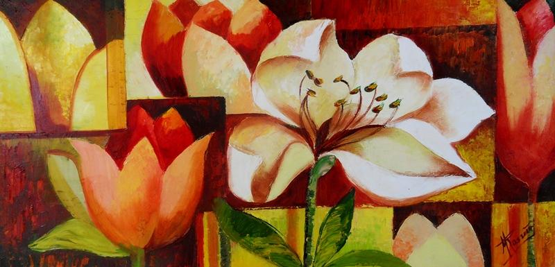 Cuadros modernos de flores imagui for Cuadro en lienzo modernos
