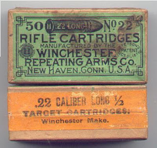 Antique 22 Long Winchester Box