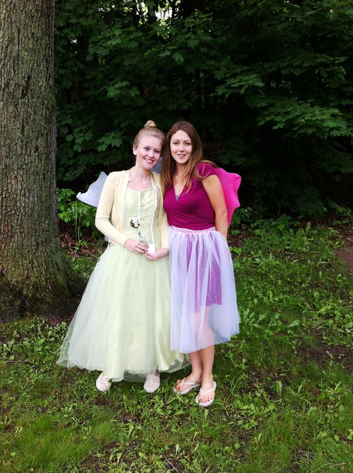 Tinkerbell and Stephanie at Fairies in the park