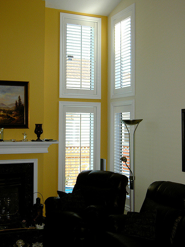 All about window composite wood shutters for Should plantation shutters match trim
