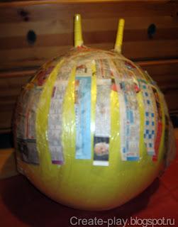 шар из папье-маше
