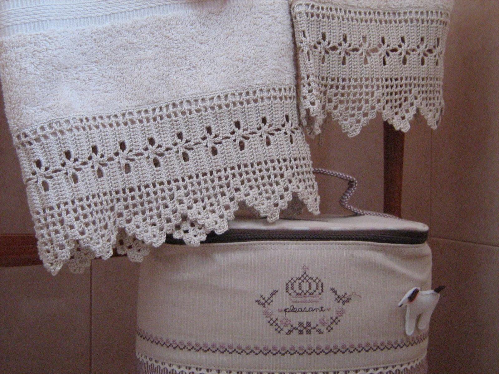 Semplicemente ketti asciugamani con bordure for Schemi bordure uncinetto per lenzuola