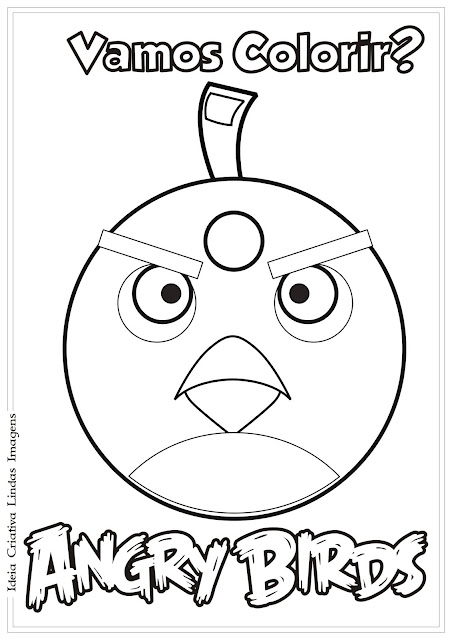 Desenho Angry Birds Bomb para colorir