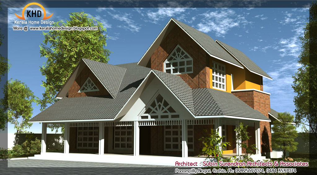 Kerala home design and floor plans farm house design for Farm house model