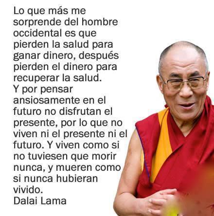 Interesantes palabras del Dalai Lama sobre el modo de vida occidental