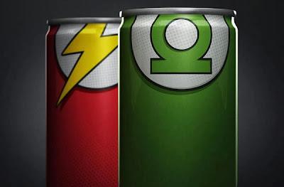 Heróis nas latas de Red Bull