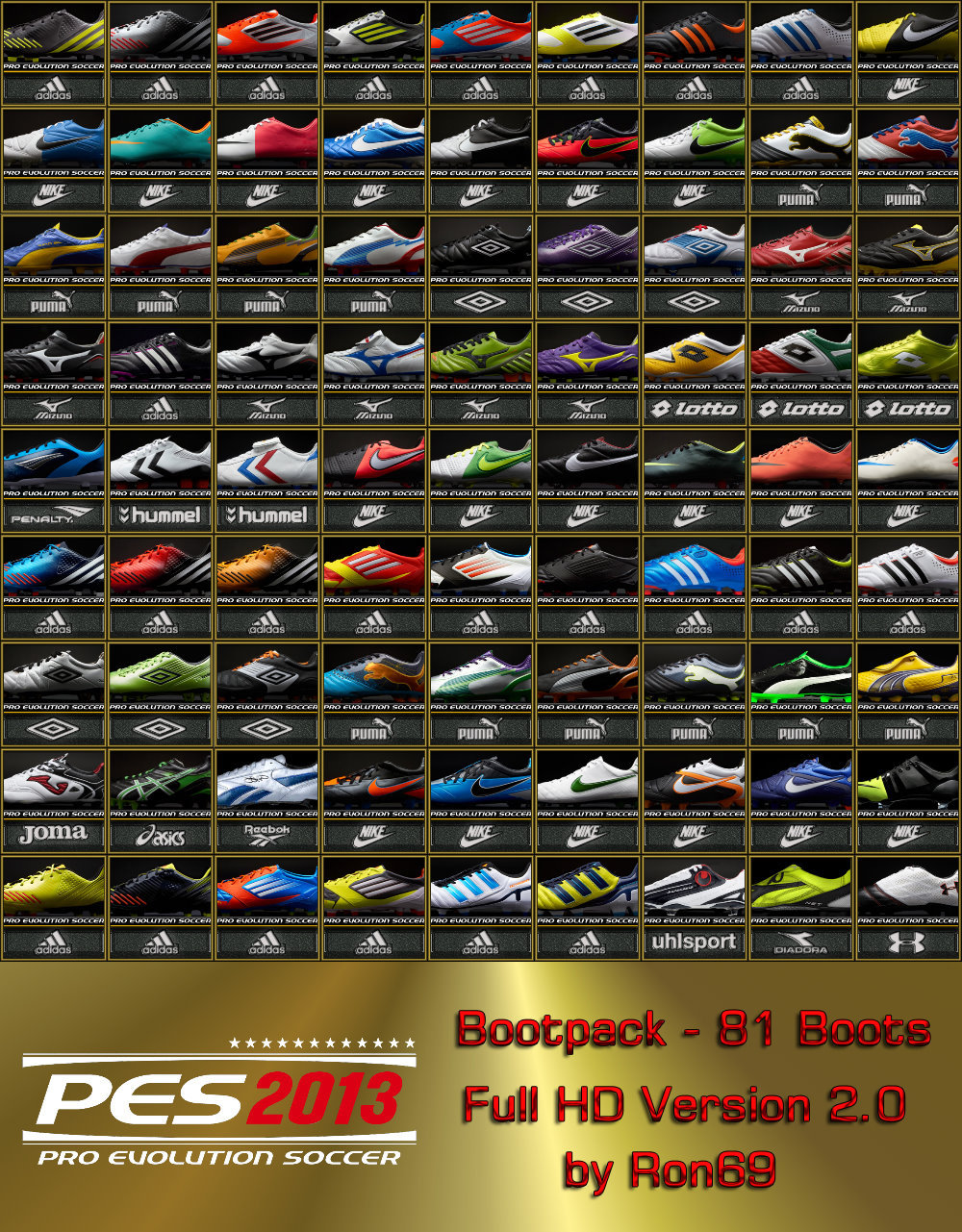 Bootpack | 81 Chuteiras Full HD v2 - PES 2013