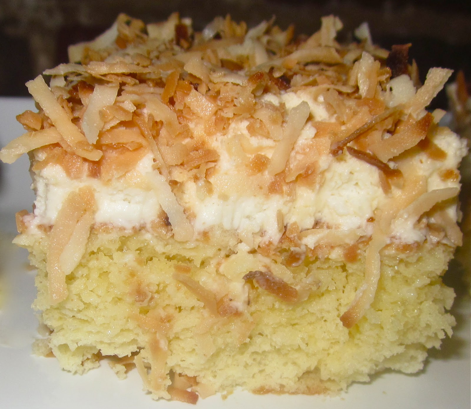 Haute + Heirloom: Coconut Tres Leches Cake with Coconut-Whipped Cream ...