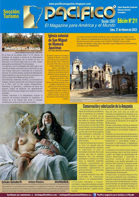 Revista Pacífico Nº 211 turismo