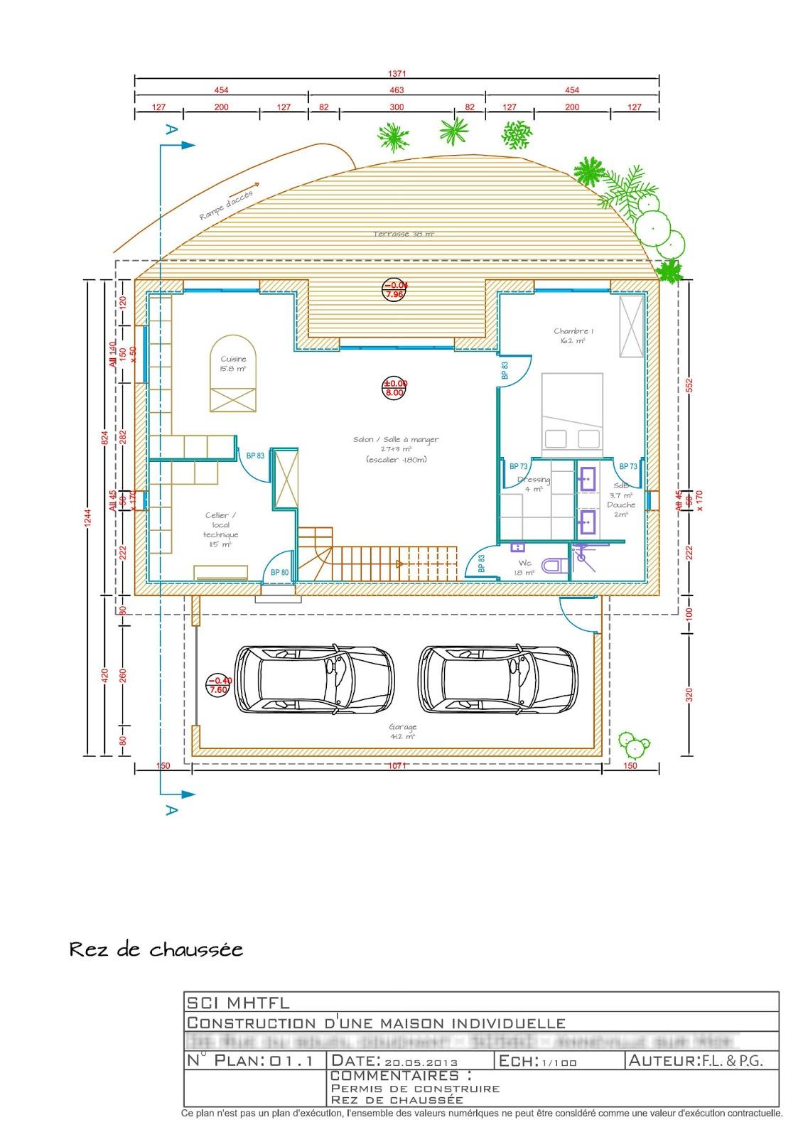 Le choix du client conscient de limplantation du projet dans son environnement a souhaité une maison ossature bois dans la continuité de cette démarche