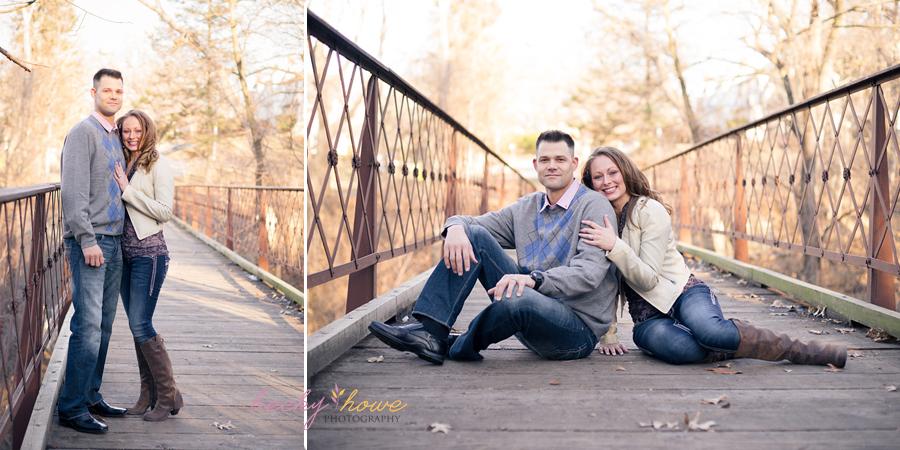 elmwood park engagement photography bridge