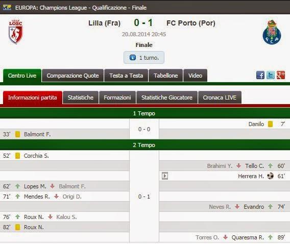 Lille Porto Live