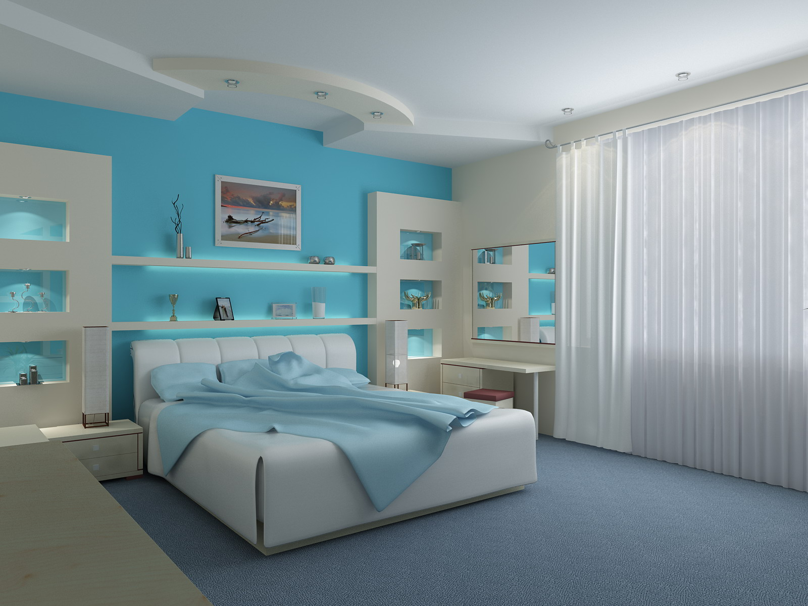 Blue Bedroom