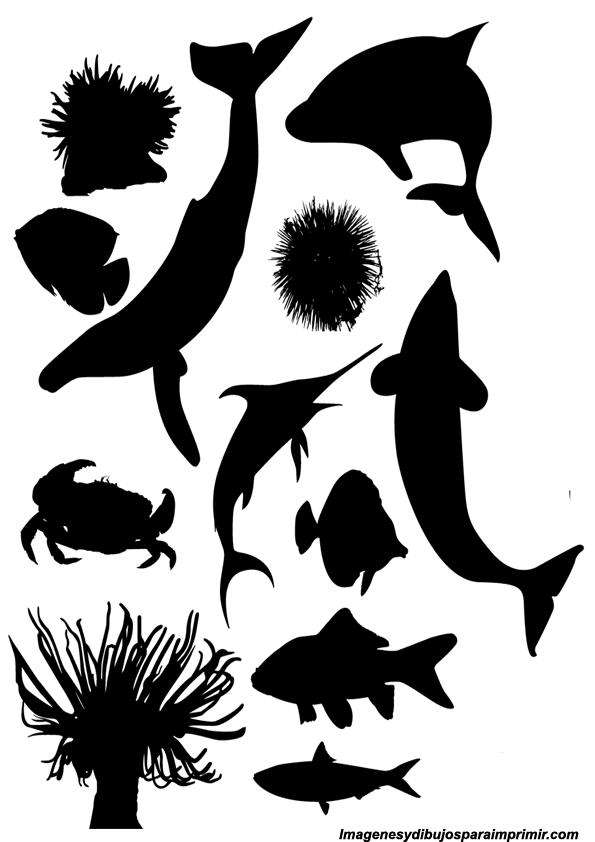 Siluetas de animales para imprimir