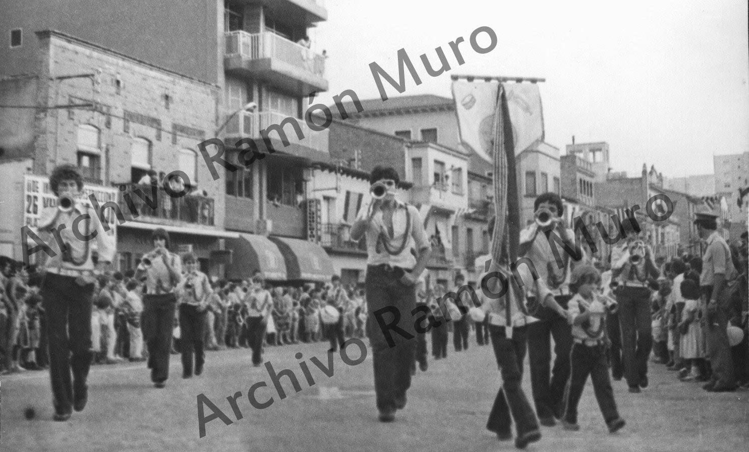 Majoretes en Fiestas Mayores de Binéfar